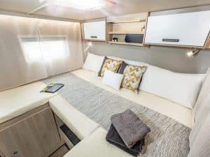 4 berth motorhome hire rear bed
