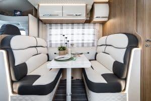 6 berth motorhome hire rollerteam autoroller 747 dinette