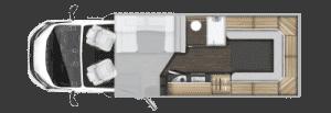 6 berth motorhome hire rollerteam autoroller 747 layout