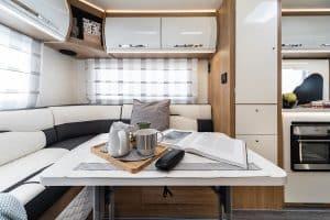 6 berth motorhome hire rollerteam autoroller 747 rear table
