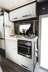 motorhome hire 6 berth Rollerteam Zefiro 675 Kitchen