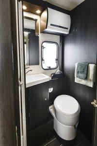 6 berth campervan hire Rollerteam Zefiro 675 Toilet